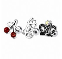 Lot de 3 piercing cartilage fantaisie