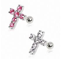 Piercing hélix croix