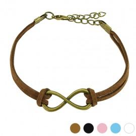 Bracelet similicuir symbole infini large