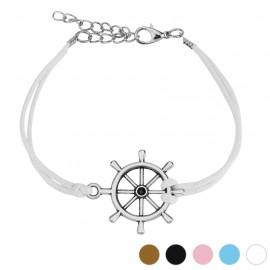 Bracelet similicuir barre de navire
