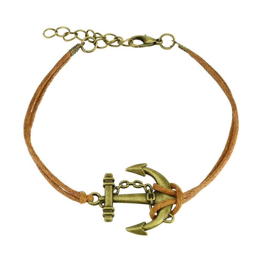 bracelet similicuir ancre marine. Black Bedroom Furniture Sets. Home Design Ideas