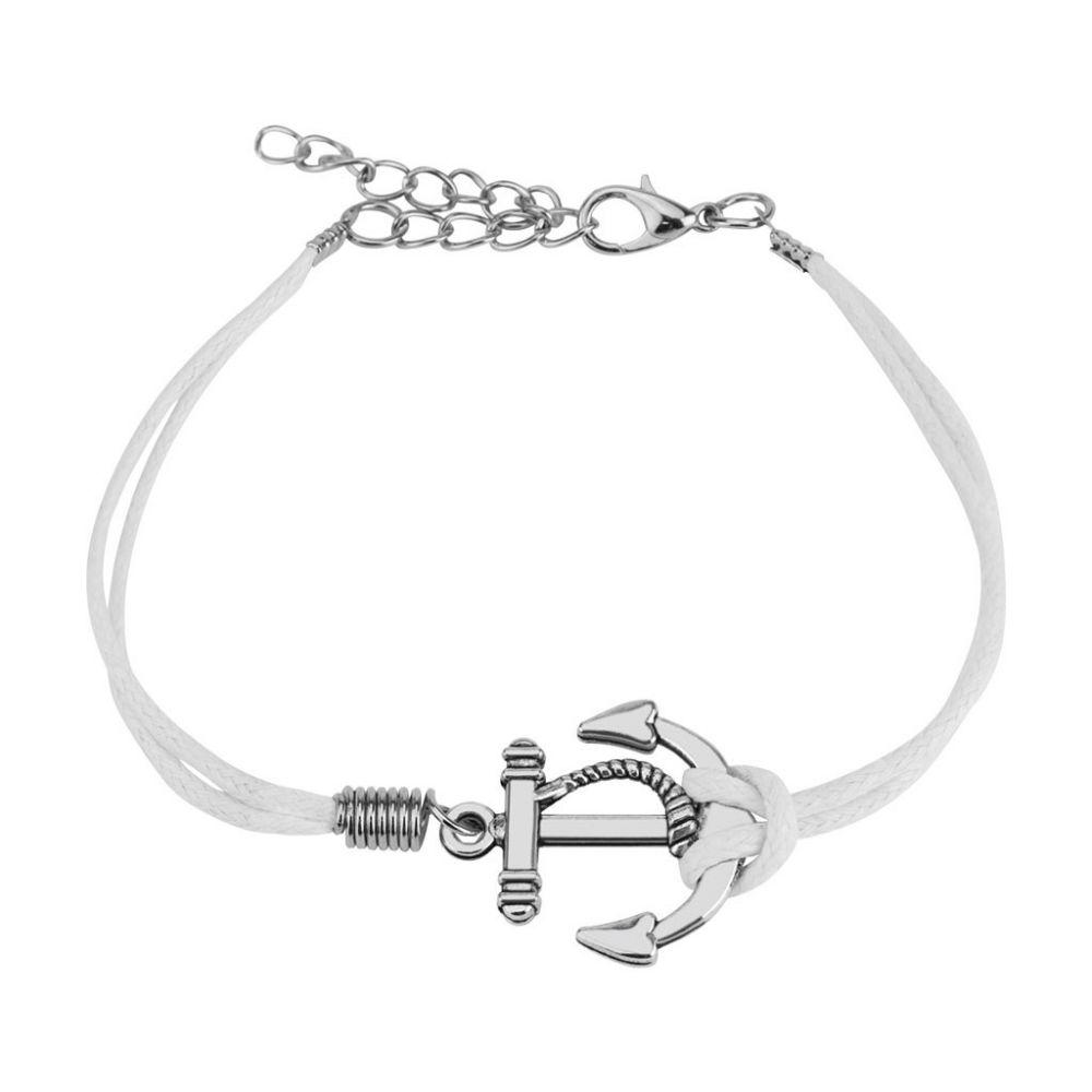 bracelet similicuir petite ancre marine. Black Bedroom Furniture Sets. Home Design Ideas