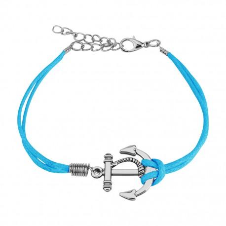 Bracelet similicuir petite ancre marine