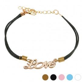 Bracelet similicuir mot LOVE