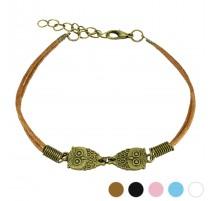 Bracelet similicuir hiboux