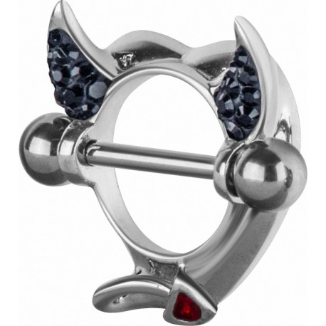 Piercing téton Crystal Evolution Swarovski Devil Heart