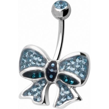 Piercing nombril Crystal Evolution Swarovski Noeud Papillon
