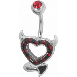 Piercing nombril Crystal Evolution Swarovski Devil heart