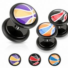 Faux Piercing plug basketball