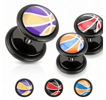 Faux Piercing plug basketball