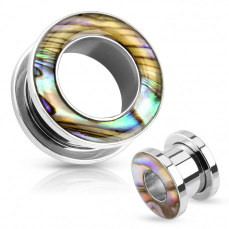 Piercing tunnel acier chirurgical nacre