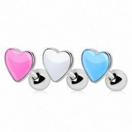 Piercing cartilage coeur émaillé