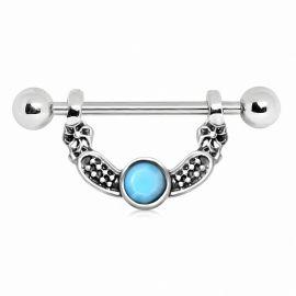 Piercing téton perle turquoise