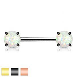 Piercing téton opale scintillante