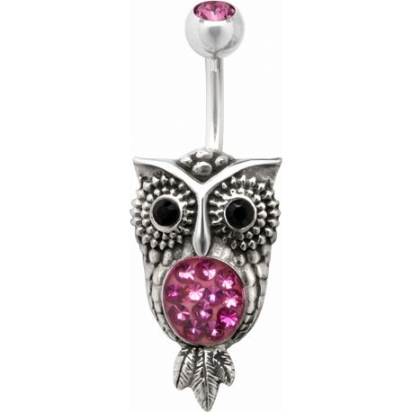 Piercing nombril Crystal Evolution Swarovski Hibou