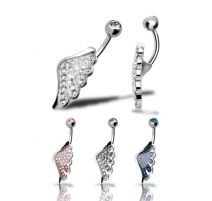 Piercing nombril Crystal Evolution Swarovski Aile d'ange