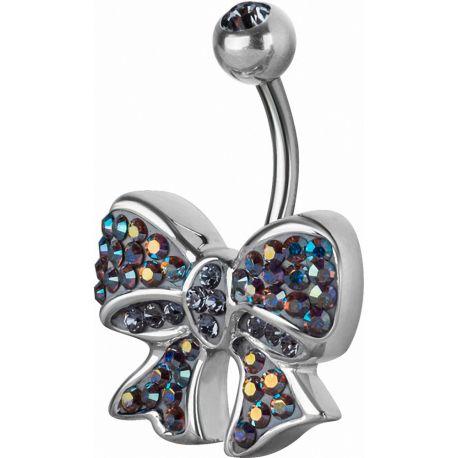 Piercing nombril Crystal Evolution Swarovski Noeud Ruban