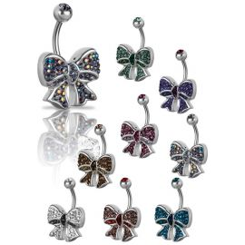 Piercing nombril Crystal Evolution Swarovski Noeud Ruban