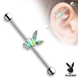 Piercing industriel Playboy nacre d'ormeau