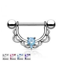 Piercing téton filigrane strass