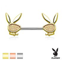 Piercing téton Playboy sable scintillant