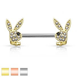 Piercing téton Playboy crystal
