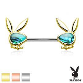 Piercing téton Playboy nacre d'ormeau