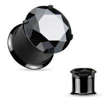Piercing tunnel noir zirconium
