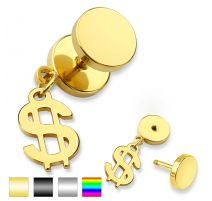 Piercing faux plug dollar