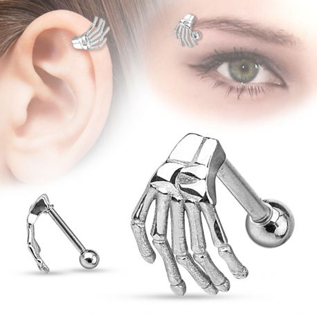 Piercing cartilage main de squelette
