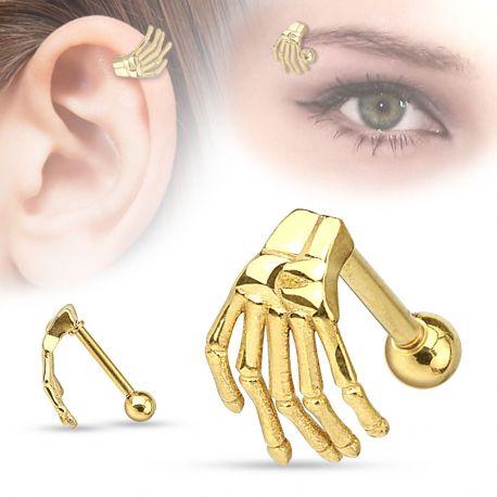 Piercing cartilage main de squelette