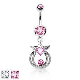 Piercing nombril ailes d'ange cercles
