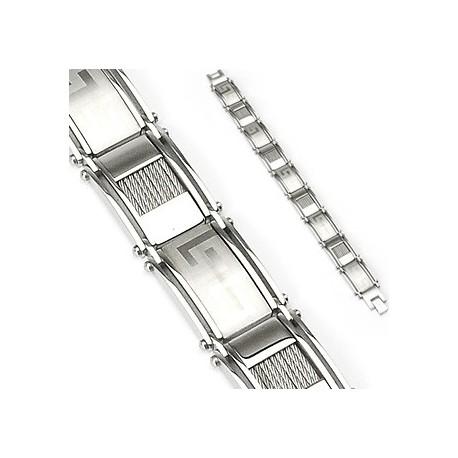 Bracelet en acier inoxydable Aztèque