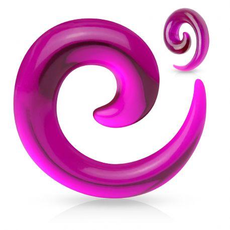 Piercing Ecarteur Oreille Acrylique Spirale