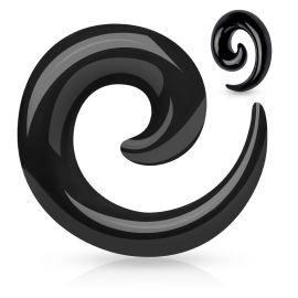 Piercing Ecarteur Acrylique Spirale Noir