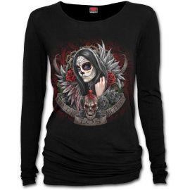 T-Shirt femme gothique à manches longues Jour des morts