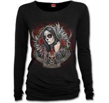 SPIRAL T-Shirt femme gothique à manches longues Jour des morts