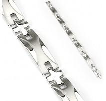 Bracelet en acier inoxydable Wave