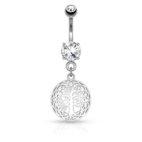 Piercing nombril arbre de vie filigrane