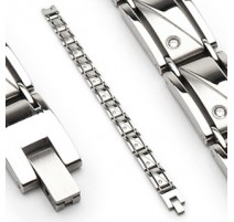 Bracelet acier inoxydable Gemmes Clairs