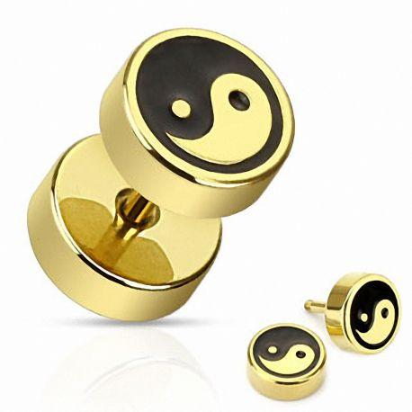 Piercing faux plug yin yang
