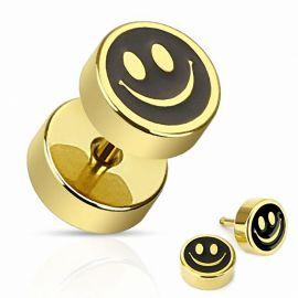 Piercing faux plug smiley