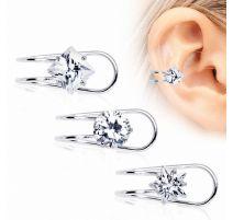 Faux piercing oreille zirconium