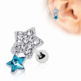 Piercing cartilage étoile brillante