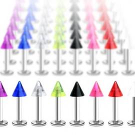 Piercing labret avec Pointe Acrylique