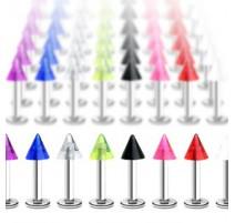 Piercing labret avec Pointe Acrylique - Bijou Piercing Labret