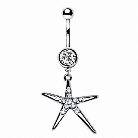 Piercing nombril étoile brillante