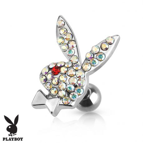 Piercing cartilage lapin Playboy strass