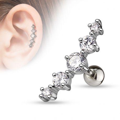 Piercing Tragus Cartilage 5 Gemmes