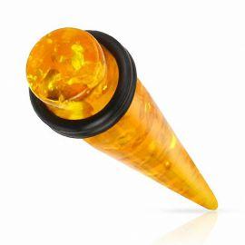 Piercing écarteur ambre synthétique